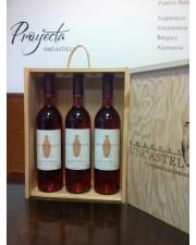 Caja regalo tres vinos (madera)